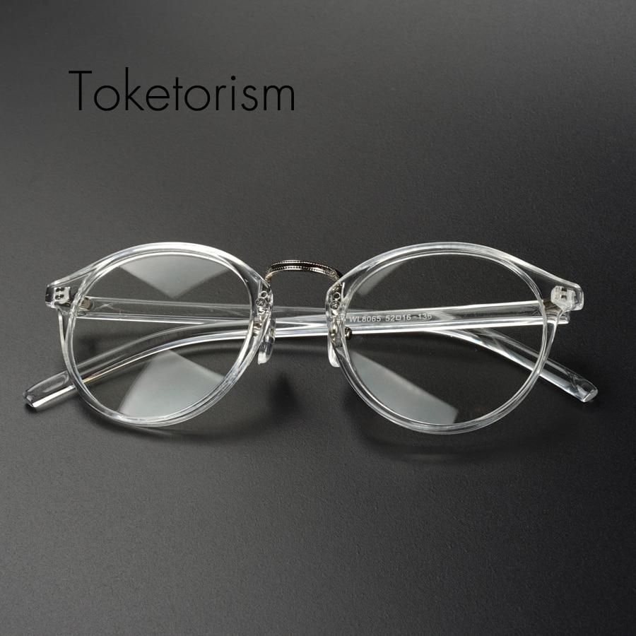 Transparent eyeglasses vintage men women fashion spectacles Prescription glasses frameeosegal-eosegal