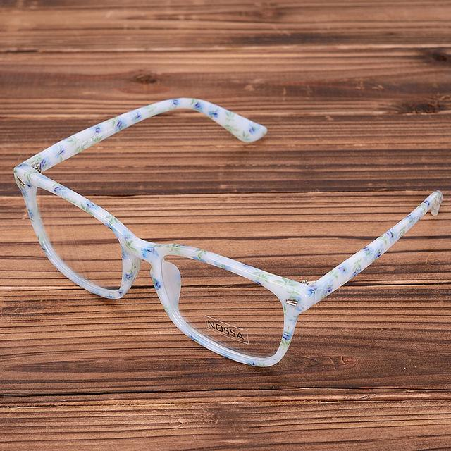 Acetate Eyeglasses Frame Clear Lens Optical Glasses Leopard Vintage Prescription Glasses Eyeweareosegal-eosegal