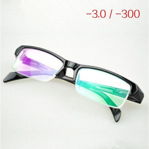 Women Men Half Frame Myopia Glasses HD Resin High Quality Cheap Blackeosegal-eosegal