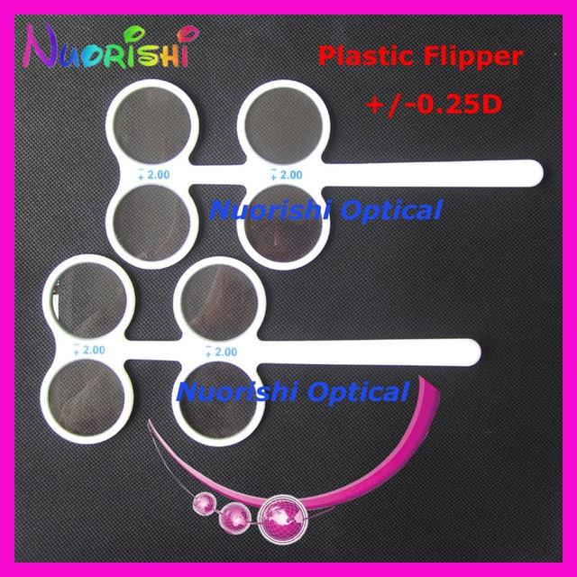free shipping E04-2504 plastic confirmation flipper ophthalmic flipper confirmation testeosegal-eosegal
