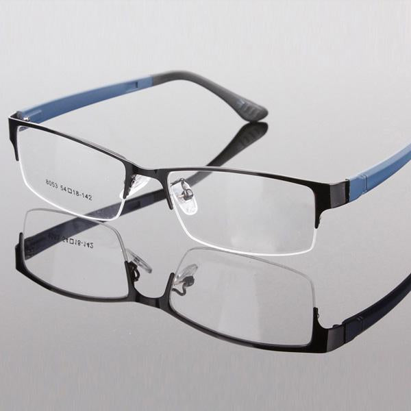 2018 Durable Mens Eyewear Metal Frame Half Rim Designer Clear Lens Eyeeosegal-eosegal