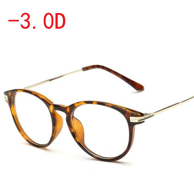 Retro Yellow Frame Myopia Glasses Fashion Finished Myopia Glasses Women Men -100eosegal-eosegal