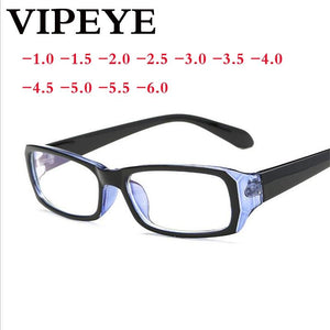 '-1.0 -1.5 -2.0 to -6.0 Simple Full Frame Finished Myopia Glasses Witheosegal-eosegal