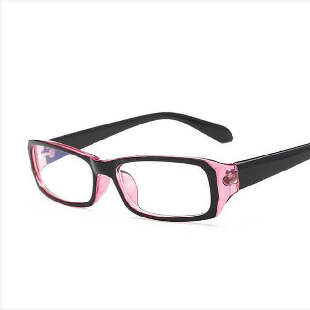 '-1.0 -1.5 -2.0 to -6.0 Simple Red Frame Finished Myopia Glasses Witheosegal-eosegal