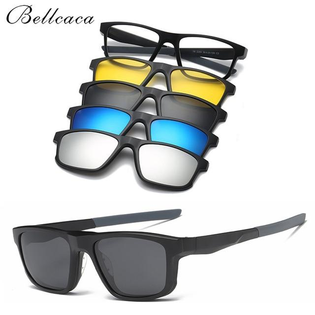 Fashion Spectacle Frame Men Women Eyeglasses With Magnetic 4 PCS Sunglasseseosegal-eosegal