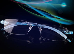 Coyee TR-90 rimless Eyeglasses ultralight blue glasses frames Optic Flexible Elastic eyeweareosegal-eosegal