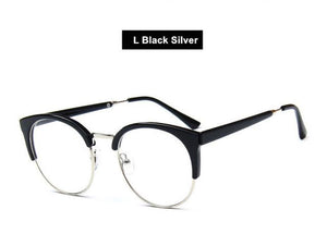 Transparent Glasses Women Cat Eye Eyeglasses Frames Men Half Frames Vintageeosegal-eosegal