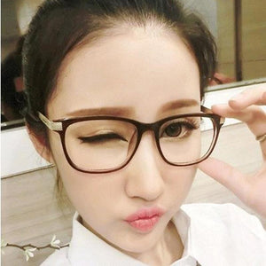Fashion female eyeglasses frames Reading Goggles Metal Computer women's Glasses transparent Decorativeeosegal-eosegal