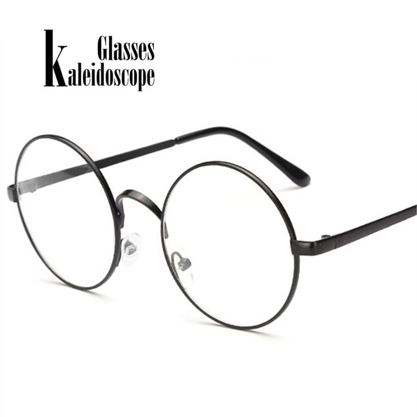 Men Women Glasses Frames Metal Round Spectacle With Clear Lens Opticaleosegal-eosegal