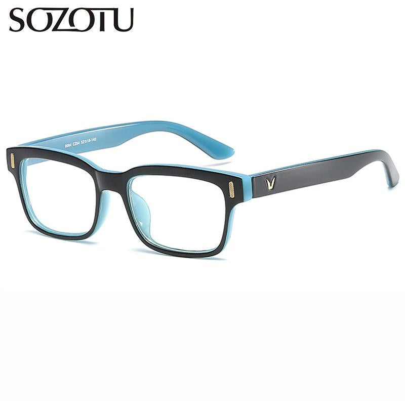 SOTUZO Spectacle Frame Women Men Eyeglasses Myopia Prescription Computer Optical Clear Lenseosegal-eosegal