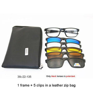 The new retro men and women 1frame+ 5 cilps Myopic Polarized sunglasseseosegal-eosegal