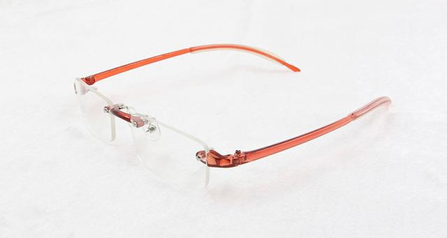 9 colors unisex fashionable colorful TR90 plastic rimless optical frame eyeglasseseosegal-eosegal
