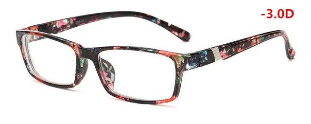 New Women's Men's Finished Myopia Glasses Short Sight Eyewear Matte Black -100eosegal-eosegal
