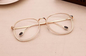 New Big Glasses Frame Retro Aviator Clear Eyeglass Frame Vintage Spectacles Opticaleosegal-eosegal