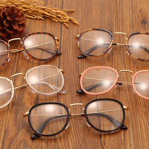 2017 Vintage Clear Lens Eyeglasses Frame Retro Round Men Women Eyewear Nerdeosegal-eosegal