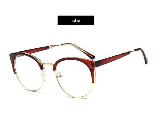 Round Half-frame Men Glasses Frames Metal Spectacle-frame for Women Retro Mens Womenseosegal-eosegal