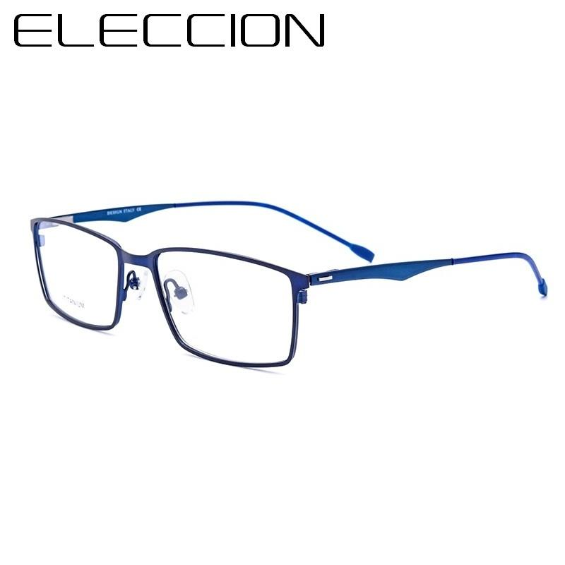 ELECCION High End Ultra-Thin Titanium Alloy Full Frame Business Myopia Eyeglasses Men'seosegal-eosegal