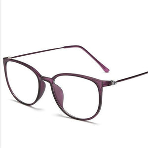 Ultra-light Ultem Flat Mirror Eyeglasses Women Men Retro Big Frane TR90 Opticaleosegal-eosegal