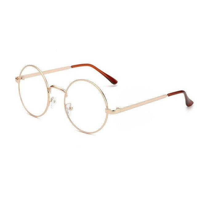 Unisex Round Glasses Metal Frame for Myopic or Reading Spectacles Frameeosegal-eosegal