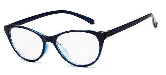 Retro Plain Lens Cat Eye Glasses Frame Brand Designer Women Optical Myopiaeosegal-eosegal