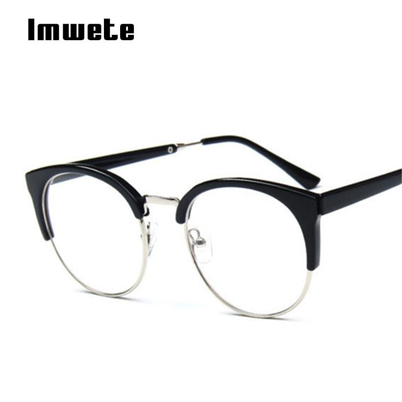 Women Cat Eye Glasses Frame Metal Plastic Glasses Retro Goggles Opticaleosegal-eosegal