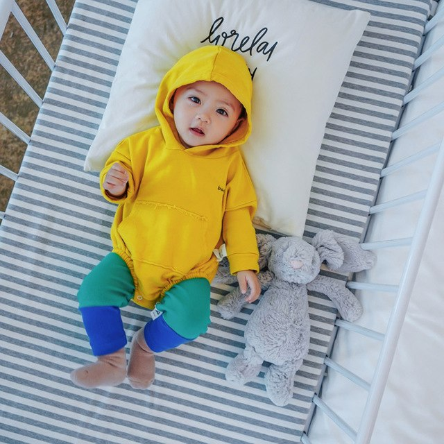 Lemonmiyu Baby Hooded Jackets For Boys Cotton Solid 0-24M Spring Autumn Tops Casual Long Sleeve Three Colors Available Coats-eosegal
