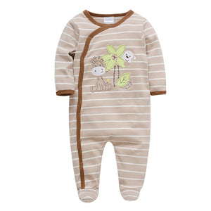 Kavkas Baby Boy Newborn Clothes 100% Cotton Long Sleeve Infant Jumpsuit Christmas Printing Autumn Winter Baby Romper Clothing-eosegal