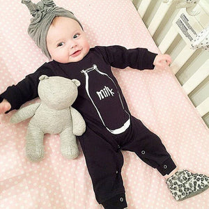 Fashion black baby rompers baby boy clothes long sleeve newborn cotton baby girl clothing infant jumpsuit-eosegal