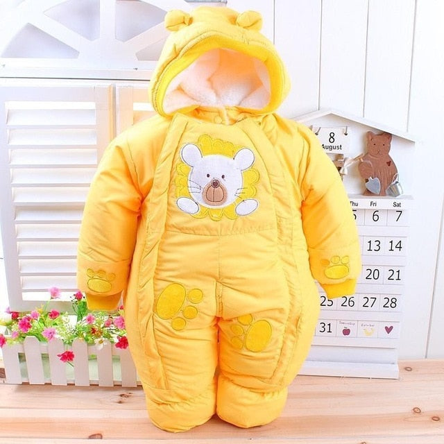 Baby Clothes Autumn Winter Newborn Baby Rompers 2018 New Cotton-padded Baby Boys Girls Jumpsuits Cartoon Infant Overalls Costume-eosegal
