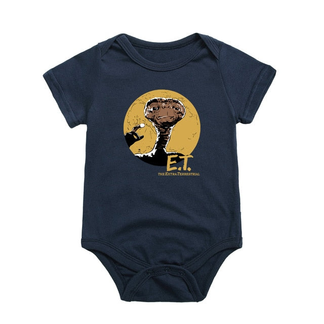 Newborns Cotton Baby One-Pieces Clothing Funny E.T Printed Baby Boy Girl Bodysuits Infant Short Sleeve Jumpsuit Underwear Babies-eosegal