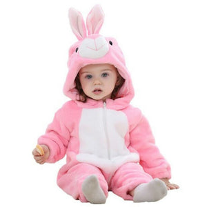 2018 Toddler Infant Baby Girls Boy Rabbit Ear Hooded Romper Jumpsuit Outfit