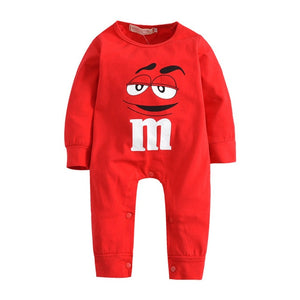 New 2018 Autumn Baby Boy Girl Rompers High Quality Cotton Long Sleeve Red and Blue Cartoon Infant Jumpsuit Newborn Baby Clothes-eosegal