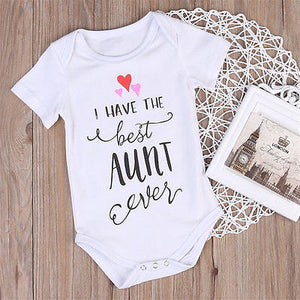 Newborn Toddler Baby Boys Girls Clothing best Aunt Bodysuit Cotton Bodysuit Summer Baby Clothes-eosegal