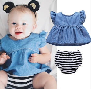Newborn Baby Girls Halloween Pumpkin + Christmas Baby Cos Clothes Flamingo Sleeveless Tops+Bow Briefs 2PCS Outfits Set 0-2Years-eosegal