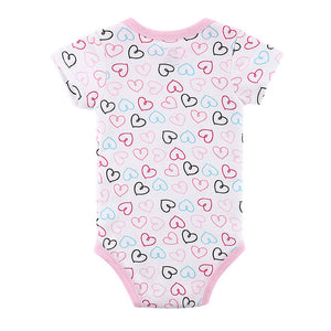 MUQGEW Baby Bodysuit Newborns Infant Jumpsuit Overall Short Sleeve Body Suit Baby Clothing Set Summer Cotton newborn clothes #3-eosegal