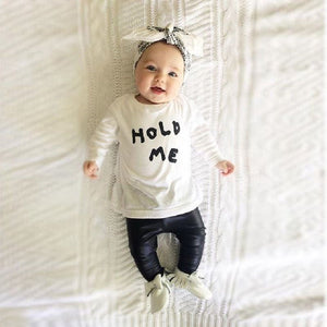 Cotton 100% 2016 Kids Clothes Newborn Baby Boys Girls Clothes Toddler Kids T-shirt Tops+Pants Outfit 2pcs Set Clothing-eosegal