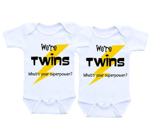 YSCULBUTOL Twins boy and girl gift Baby Clothes Baby Bodysuit 0-12M infant baby outfits cute baby-eosegal