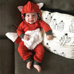 Newborn Infant Baby Girls Boys 3D Cartoon Fox Hooded Romper Jumpsuit Outfits baby costume mameluco bebe-eosegal