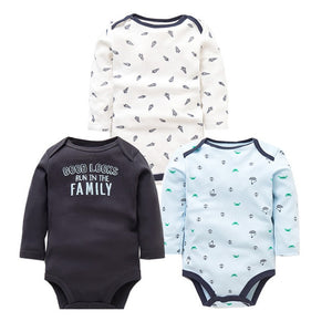 3PCS/LOT Baby Bodysuits Autumn Top Quality Baby Girl Boy Clothes 100% Cotton Long Sleeve Underwear Infant Baby Jumpsuit 0-24M-eosegal