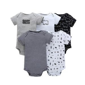 Baby Carter toddler Bebes Girl and Boys Bodysuit Set Short Bodysuit 5 pcs Pack Summer Bebes Girl and Boys-eosegal