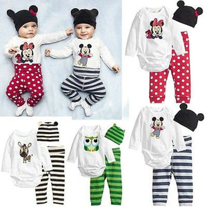 2018. 11 color three piece Romper Jumpsuit cotton children infant climbing clothing children's clothing wholesale trade-eosegal
