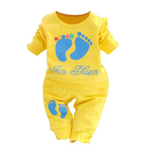 Casual Baby Boys Girls Clothes Set Printed Long Sleeve T-shirt+Pants Outfit Children Costume-eosegal