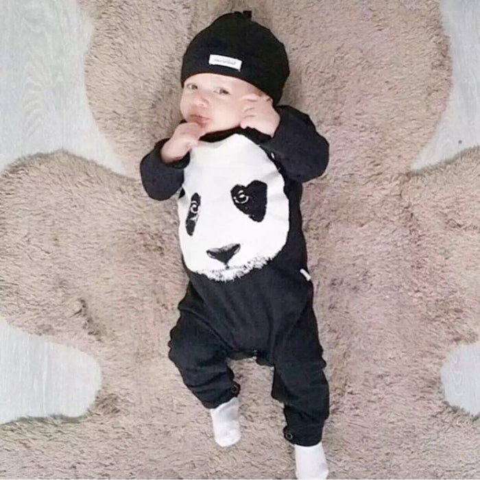 Baby rompers baby boy clothes newborn baby girl panda printed long sleeved baby jumpsuit infant clothing-eosegal