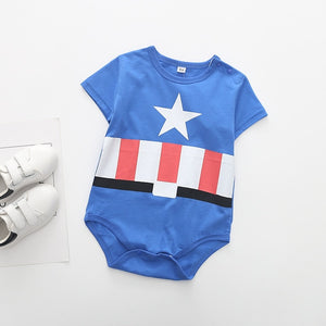 Superman Summer Baby Rompers Newborn Baby Boy Girl Romper Short sleeve Jumpsuit Clothes Baby Clothes Cotton Outfits 0-18M-eosegal