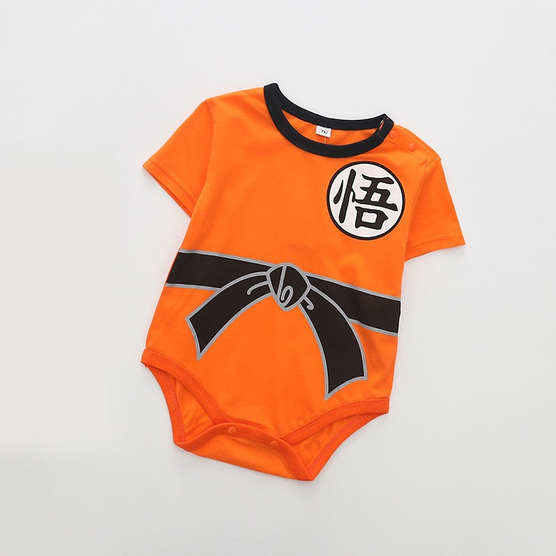 Summer cotton Baby Rompers Toddler Jumpsuit spring Baby Girls boys Newborn baby Short sleeve clothing Dragon Ball Z Goku Infant-eosegal