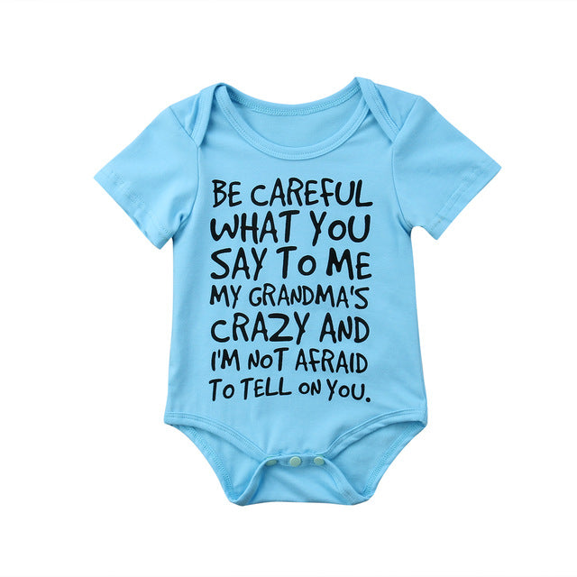 Pudcoco 0-24M Baby Boy Girl Casual Short Sleeve Bodysuit Jumpsuit Short Sleeve Bodysuit Clothes Outfits-eosegal
