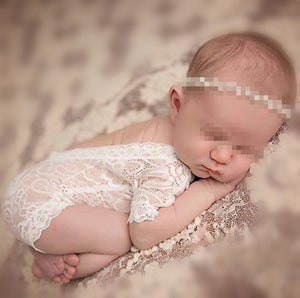 Vintage lace romper - baby girl photo prop - newborn prop - newborn off summer white romper-eosegal