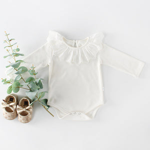 2018 Baby Girls Clothes Ruffle Collar Baby Bodysuits Newborn Baby Clothes Long Sleeve Bodysuit Baby Clothing-eosegal