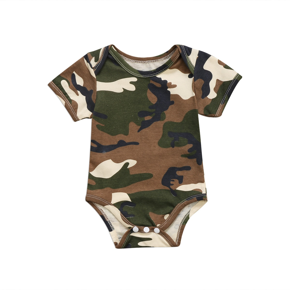 Fashion Cute Newborn Baby Boys Girls Camo Short Sleeve Romper Jumpsuit Clothes One-piece-eosegal