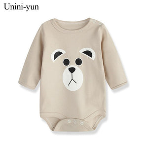 100% Cotton Baby Bodysuit White Autumn Newborn Cotton Body Baby Long Sleeve Underwear Infant Boy Girl Pajamas Clothes baby-eosegal